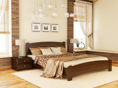 Кровать Венеция Люкс (щит) - темный орех (101)