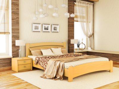 Кровать Венеция Люкс (массив) - бук натуральный (102)