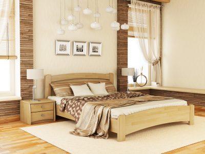 Кровать Венеция Люкс (щит) - бук натуральный (102)