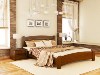 Кровать Венеция Люкс (массив) - светлый орех (103)