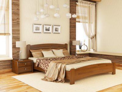 Кровать Венеция Люкс (щит) - светлый орех (103)