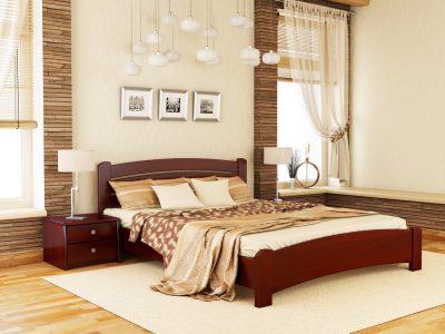 Кровать Венеция Люкс (массив) - красное дерево (104)