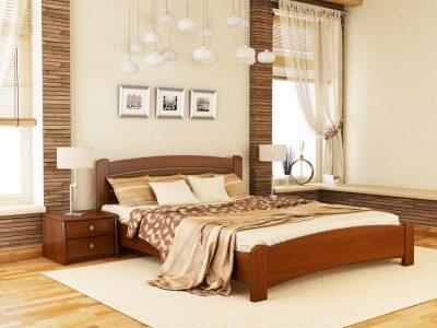 Кровать Венеция Люкс (массив) - ольха (105)