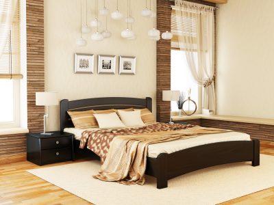 Кровать Венеция Люкс (массив) - венге (106)
