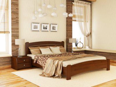 Кровать Венеция Люкс (щит) - каштан (108)
