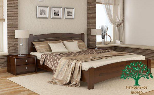 Кровать Венеция люкс - темный орех