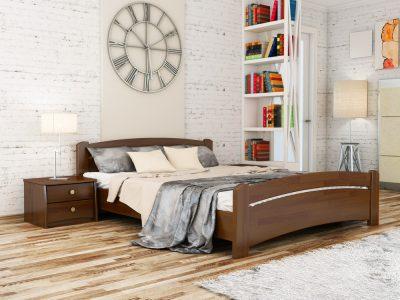 Кровать Венеция (щит) - темный орех (101)