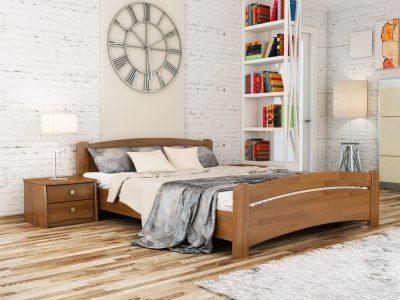 Кровать Венеция (щит) - светлый орех (103)