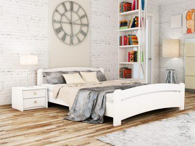 Кровать Венеция (щит) - белый акрил (107)