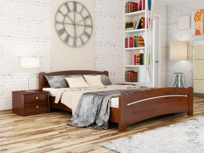 Кровать Венеция (щит) - каштан (108)