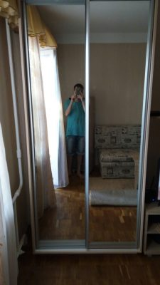 Шкаф-купе В104 (зеркала)