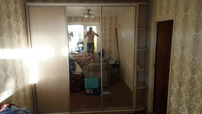 Шкаф купе В224 (зеркала+ДСП)