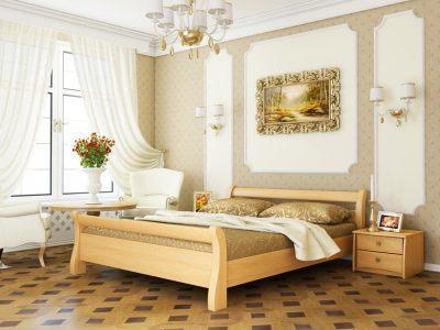 Кровать Диана (массив) - бук натуральный (102)