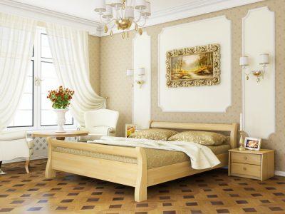 Кровать Диана (щит) - бук натуральный (102)