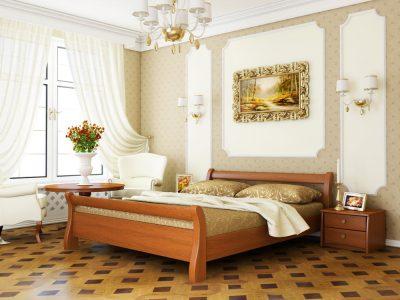 Кровать Диана (массив) - ольха (105)