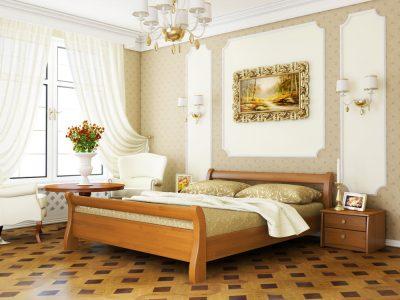 Кровать Диана (щит) - ольха (105)