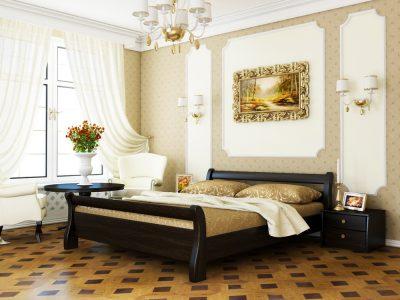 Кровать Диана (массив) - венге (106)