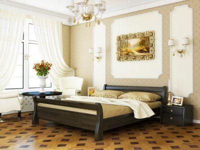 Кровать Диана (щит) - венге (106)