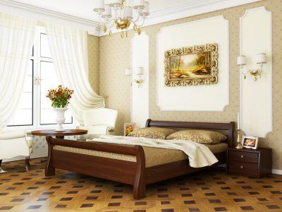 Кровать Диана (массив) - каштан (108)