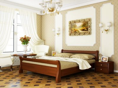 Кровать Диана (щит) - каштан (108)