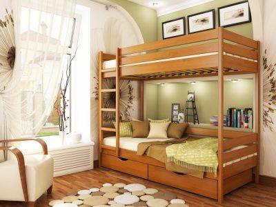 Кровать Дуэт (щит) - ольха (105)