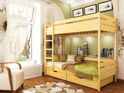 Кровать Дуэт (массив) - бук натуральный (102)