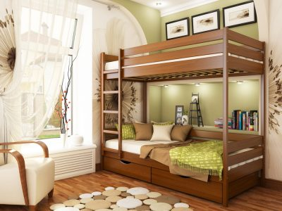 Кровать Дуэт (массив) - ольха (105)
