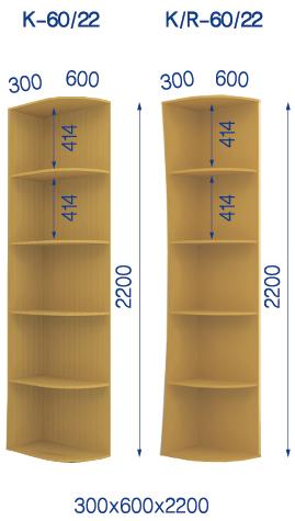 Радиусные полки К-6022_КР-6022