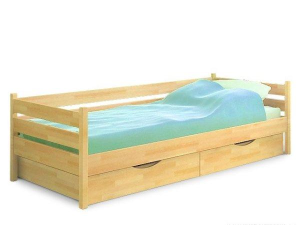 Кровать Нота (щит) - бук натуральный
