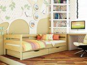 Кровать Нота (щит) - бук натуральный (102)
