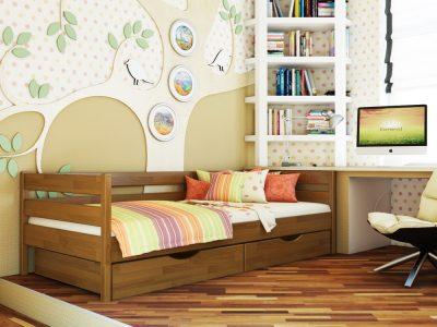 Кровать Нота (щит) - светлый орех (103)
