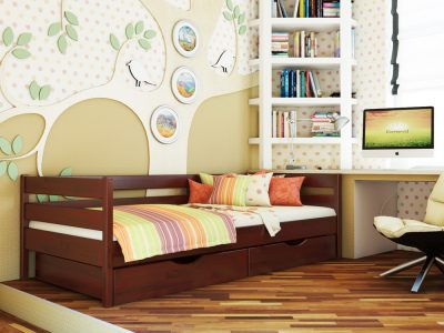 Кровать Нота (щит) - красное дерево (104)