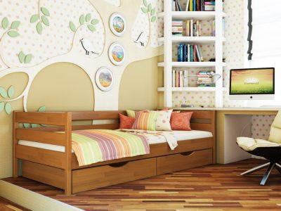 Кровать Нота (щит) - ольха (105)