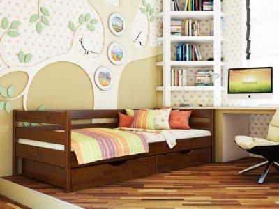 Кровать Нота (щит) - каштан (108)