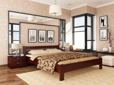 Кровать Рената (массив) - красное дерево (104)