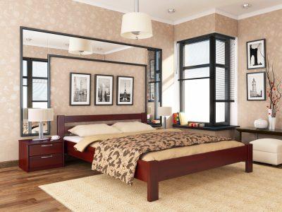 Кровать Рената (щит) - красное дерево (104)