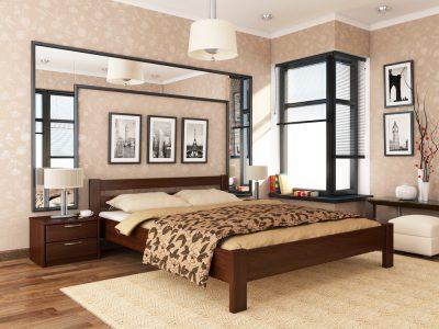 Кровать Рената (массив) - каштан (108)