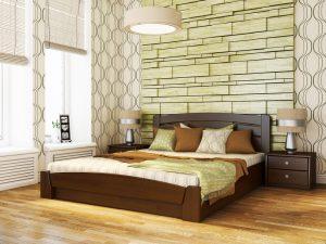 Кровать Селена Аури (щит) - темный орех (101)