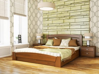 Кровать Селена Аури (щит) - светлый орех (103)