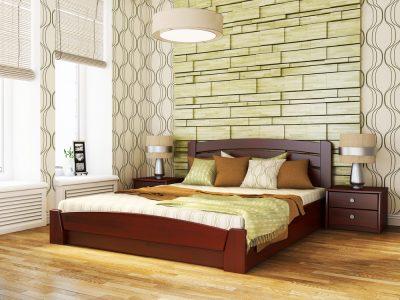 Кровать Селена Аури (щит) - красное дерево (104)