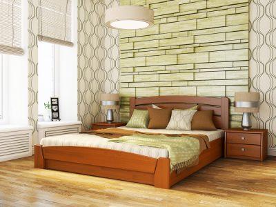 Кровать Селена Аури (щит) - ольха (105)
