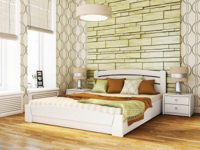 Кровать Селена Аури (щит) - белый акрил (107)