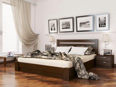 Кровать Селена (массив) - темный орех (101)