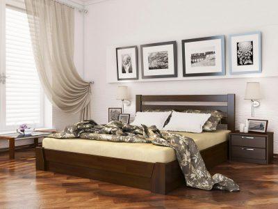 Кровать Селена (щит) - темный орех (101)