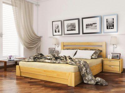 Кровать Селена (щит) - бук натуральный (102)