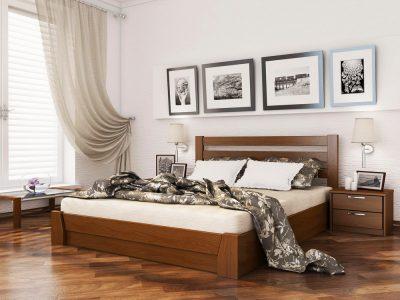 Кровать Селена (массив) - светлый орех (103)