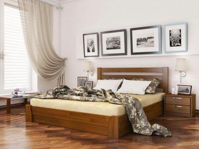 Кровать Селена (щит) - светлый орех (103)