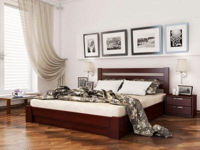 Кровать Селена (массив) - красное дерево (104)