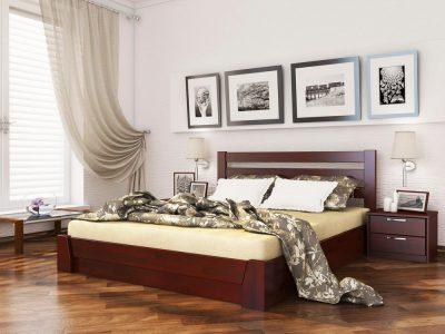 Кровать Селена (щит) - красное дерево (104)