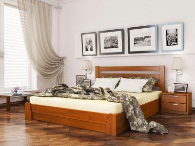 Кровать Селена (щит) - ольха (105)